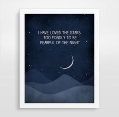 VENTA he amado las estrellas citar arte Galileo citar por evesand, $21.00
