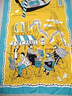 vintage scarf - love this scene!