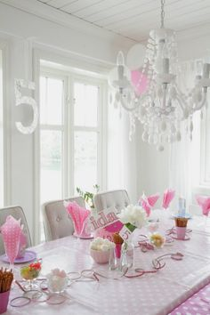 Norwegian...love this table setting for the 5 year old birthday party.