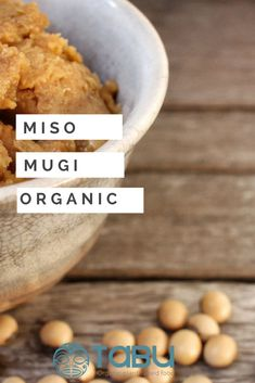 Mugi Miso, a 2 year fermented barley and soy food, is one of the world's most delicious, versatile, and medicinal foods. Vegan Appetizers, Vegan Snacks, Vegan Dinners, Sea Vegetables, Vegan Soups, Fermented Foods, Vegan Lifestyle, Japanese Food, Gluten Free Recipes
