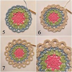 Coasters with a star | crochetmillan | Bloglovin' Crochet Motif, Crochet Doilies, Crochet Patterns, Coaster Set, Crochet Projects, Pot Holders, Crochet Earrings, Sewing, Knitting