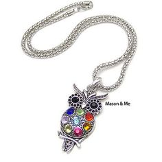 Diamond Necklace Owl General. Small and catchy. REPIN if you like it.😍 Only 27 IDR