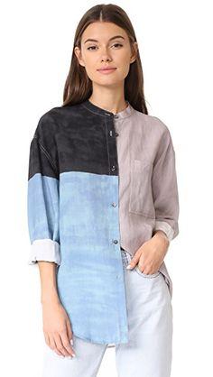 Mara Hoffman Рубашка на пуговицах Zelda