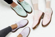 pastel low-cut Doc Martens http://livelovewear.com/womensshoes