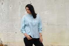 Blue ESPRIT shirt by Troll2Treasure on Etsy