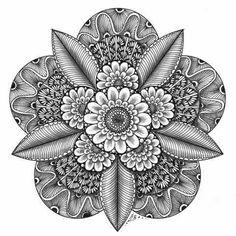 Erins Zendala-Template 41 – Sehnsucht nach dem Frühling | KunstKramKiste