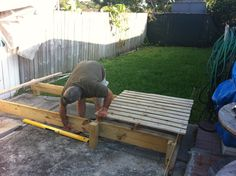 Starting of our pallet deck