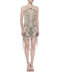Beaded+High-Low+Silk+Dress+by+Haute+Hippie+at+Neiman+Marcus.