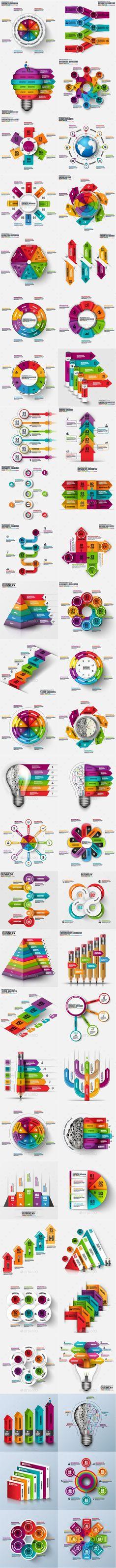Big Bundle Infographic Templates Vector EPS, AI Illustrator
