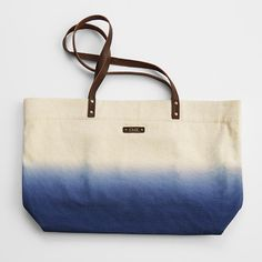 dip dye canvas tote bag from RedEnvelope.com