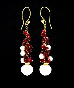 Rubies and pearls.....Kat Zahran 18ct gold, freshwater pearls and rondelle cut ruby gems