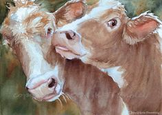 Hey, I found this really awesome Etsy listing at https://www.etsy.com/listing/158311883/cow-print-kissed-by-a-cow-watercolor-cow