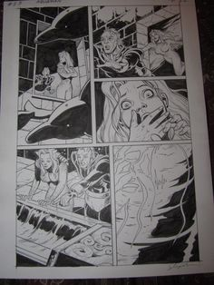 Original art page from page 22, Issue 53, of Aquaman: Sword of Atlantis, sent to me by my friend, Shawn McManus.