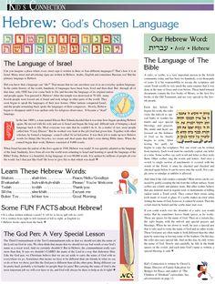 Hebrew: God's Chosen Language