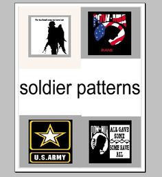 soldier memorial crochet graphghan pattern by craftasticcreations2