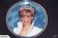 """""""Diana, Princess of Wales"""" By Franklin Mint. It is made of fine porcelain with a platinum rim."""