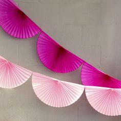 Paper Fan Garland - Peach Blossom