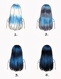 A quick Copic hair coloring tutorial for black hair with a blue tint Drawing Techniques, Drawing Tips, Drawing Ideas, Sketch Ideas, Art Sketches, Art Drawings, Copic Marker Drawings, Drawing Faces, Horse Drawings