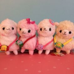 April 2014 new release   This is the newest collection from Amuse. Cutie Kids Alpacasso are growing big and strong! They are taking their friends to the park! 4 colors and about 13cm tall.  Limited quantity, will not restock. Release date: Mid-April, 2014  Please note, We try...