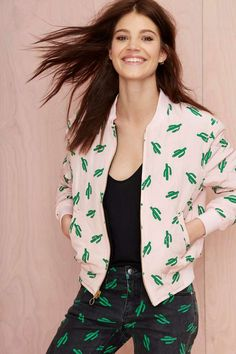 American Retro Oscar Quilted Bomber Jacket - Jackets   American Retro