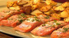 Photo of Roasted miso salmon with rosemary roasted potatoes
