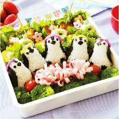 Gerissene Sushi pinguinen Arten