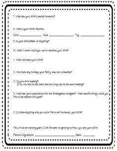 Parent Teacher Conference Summary Form | Teaching, Summary and ...