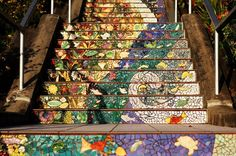 Amazing Mosaic Tiled Staircase in San Francisco