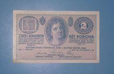 Banknote: 2 Zwei Kronen Banconote 2 Korona 1914 Rare Very Good