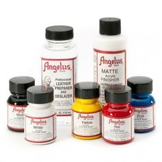 Angelus Leather Shoe Painting Kit contains everything you need to paint your shoes with any color and design you desire