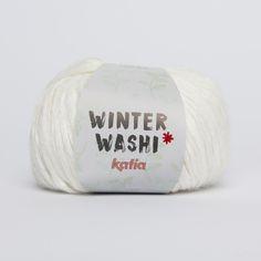 WINTER WASHI yarn of Autumn / Winter from Katia Fall Winter, Autumn, T Shirt Yarn, Washi, Yarns, Black And White, Fall Season, Black N White, Black White