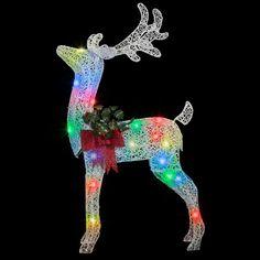 Crystal Swirl Buck Yard Sculpture 140 Long Lasting LED Lights Christmas Decor Christmas Light Show, Led Christmas Lights, Decorating With Christmas Lights, Outdoor Christmas, Christmas Decorations, Christmas Ornaments, Holiday Decor, Christmas Tree, Yard Sculptures