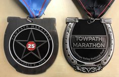 The 2016 Towpath Marathon Medals