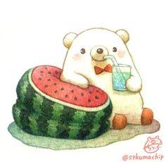 Cute Cartoon Drawings, Cute Animal Drawings, Kawaii Drawings, Kawaii Doodles, Kawaii Art, Kawaii Illustration, Bear Art, Cute Chibi, Cute Bears