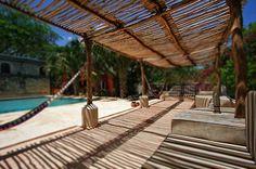 the pool at the Hacienda Santa Cruz