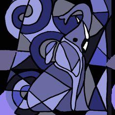 Blue Elephant Abstract by enjoythemoment at zippi.co.uk