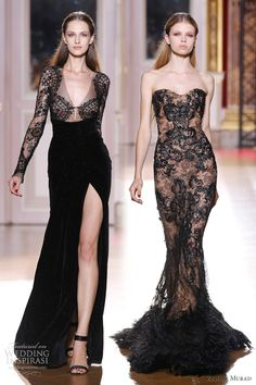 Zuhair Murad Couture Collection; black oh black