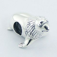 Silver bead sea lion 21mm length 925 sterling silver for charm bracelet new PSA