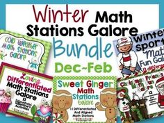 Winter Math Stations Galore-Five Differentiated and Aligned Sets1