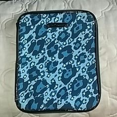 Betsey Johnson  Betseyville Ipad tablet case Betsey Johnson Betseyville Ipad tablet case  Blue leopard outside rose inside Tablet sleeve inside card holder and zippers for cables. Very cute  Size larder 11 inch tall 9 inch acrosd Betsey Johnson Accessories Tablet Cases