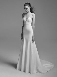 Every show-stopping gown from Alex Perry's new bridal collection New Wedding Dresses, Designer Wedding Dresses, Wedding Attire, Alex Perry, Trumpet Gown, Blue Dresses, Formal Dresses, Applique Wedding Dress, Fair Lady
