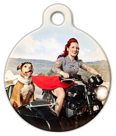 """From the Pinups for Pitbulls Traveling with Dogs collection: This design features Deirdre """"Little Darling"""" Franklin and Baxter Bean. Photographed by Celeste Giuliano for the Pinups for Pitbulls 2016 calendar.© 2005-2015 PINUPS FOR PITBULLS (PFPB) All Rights Reserved."""