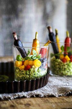 Romanesco Rice Carrot Salad with Kale Pesto Recipe