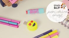 Minuto DIY - Pen-Drive Emoji (Especial de Volta às Aulas) Faça você mesma um pen-drive de emoji personalizado para arrasar na volta às aulas. DIY fácil e rápido. (Por: Carla Sant'Anna, blog Burguesinhas)