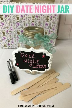 DIY Date Night Jar - This bridal shower game is perfect for the newlyweds. They will have LOTS of date night ideas to go home with once everyone has pitched in suggestions!