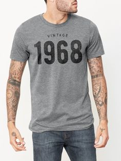2213e5ef8 Vintage 1968 T-Shirt. See more. 50th Birthday gift Ideas for men and women  - This unisex Birthday shirt features the Vintage