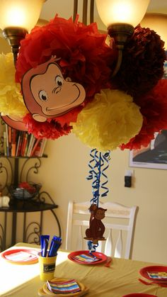 Fun party Decorations for a curious George party