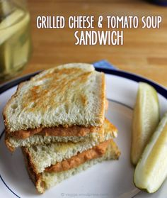 Grilled Cheese & Tomato Soup Sandwich #vegan