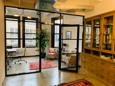 Our company manufactures aluminum and glass partitions that are the best solution for an office zoning. Office Room Dividers, Home Office Space, Office Walls, Glass Office Partitions, Glass Partition Wall, Glass Wall Design, Partition Ideas, Office Pods, Barn Conversions