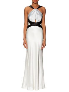 Colorblocked Cross Front Gown by ABS by Allen Schwartz at Gilt